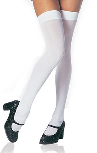 fcc7962a2f6 Opaque Thigh High Stockings. One Size Fits Most Women 90 to 160lbs. 96%  Nylon