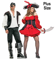 Red Pirate Wench Plus