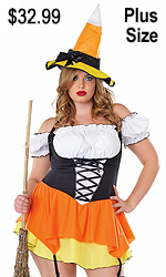 Candy Corn Witch Plus