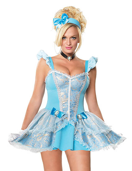 fairytale princess cinderella costume. Black Bedroom Furniture Sets. Home Design Ideas