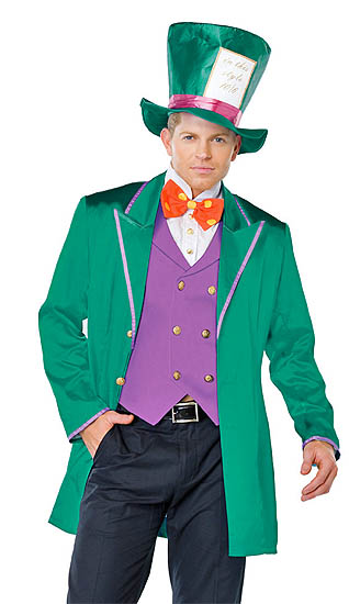 fd0a57b4d0f9 No Better Match to the Tea Party Hostess than this Four (4) Piece Men's Mad  Tea Party Host Costume! This Colorful Outfit features a Purple Vest with  Gold ...